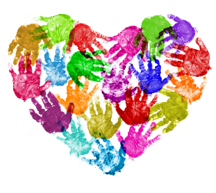 Handprint Heart Clipart Handprint Heart Clipart